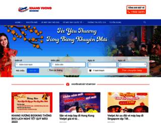 khangvuongbooking.com.vn screenshot