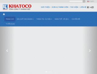 khatoco.com.vn screenshot