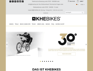 khebikes.com screenshot