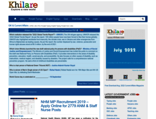 khilare.com screenshot