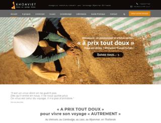 khoaviettravel.fr screenshot