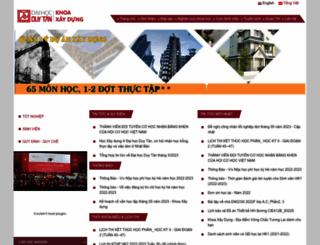 khoaxaydung.duytan.edu.vn screenshot