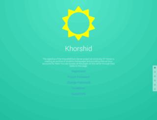 khorshid.ut.ac.ir screenshot