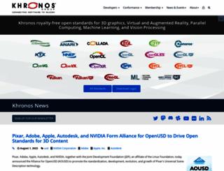khronos.org screenshot
