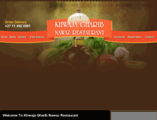 khwajagharibnawazrestaurant.co.za screenshot