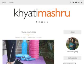 khyatimashru.com screenshot