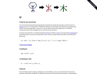 ki-lang.org screenshot
