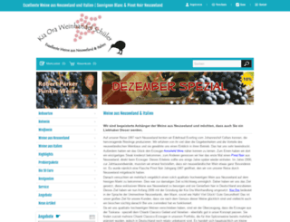 kia-ora-weinhandel.de screenshot