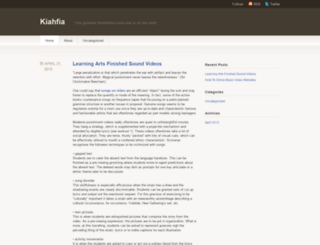 kiahfia.wordpress.com screenshot