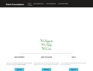 kianifoundation.com screenshot