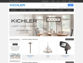 kichlerlightinglights.com screenshot