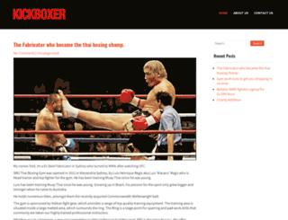kickboxermag.com.au screenshot
