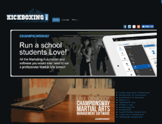 kickboxing.com screenshot