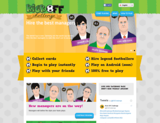 kickoffchallenge.com screenshot