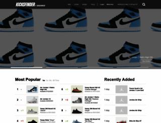 kicksfinder.com screenshot