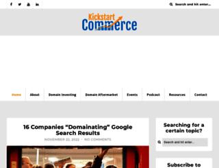 kickstartcommerce.com screenshot