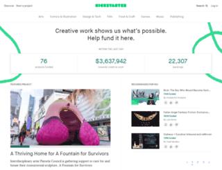 kickstarter.com screenshot