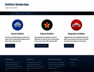 kickstartmemberships.com screenshot