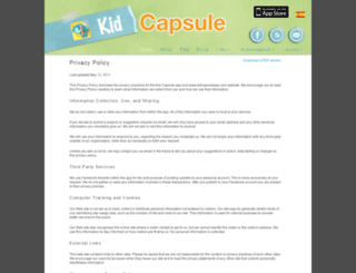 kidcapsuleapp.com screenshot