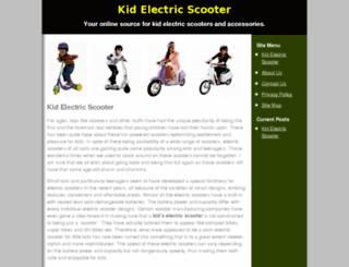 kidelectricscooter.com screenshot