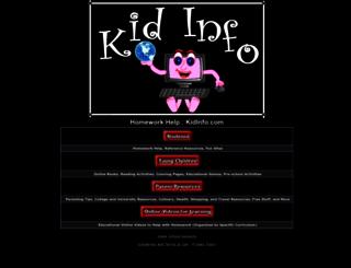 kidinfo.com screenshot