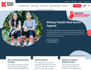 kidney.org.au screenshot