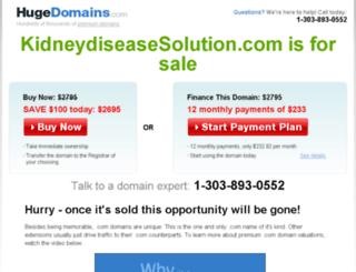 kidneydiseasesolution.com screenshot