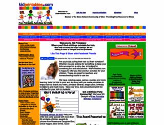 kidprintables.com screenshot