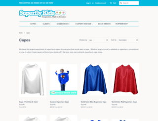 kids-capes.com screenshot