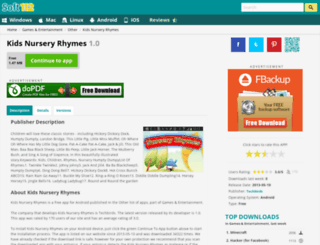 kids-nursery-rhymes.soft112.com screenshot