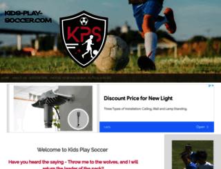 kids-play-soccer.com screenshot