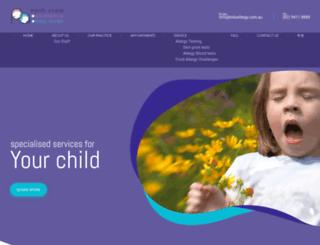 kidsallergy.com.au screenshot