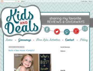 kidsanddeals.blogspot.com screenshot