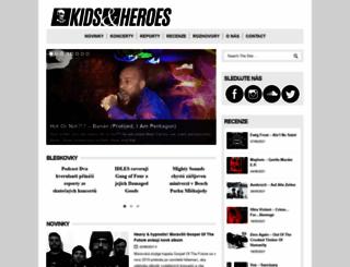 kidsandheroes.com screenshot