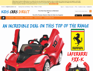 kidscarsdirect.com screenshot
