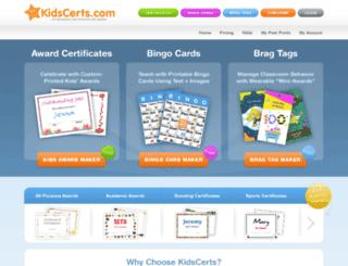 kidscerts.com screenshot