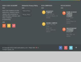kidscodeacademy.com screenshot