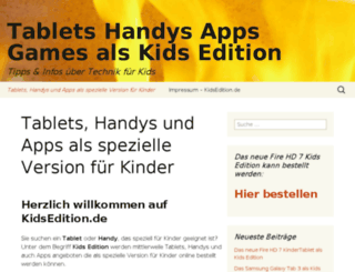 kidsedition.de screenshot