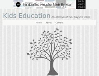 kidseducation.jigsy.com screenshot