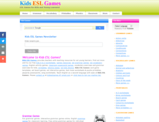 kidseslgames.com screenshot