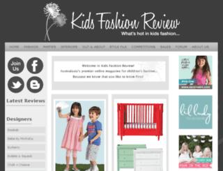 kidsfashionreview.com screenshot