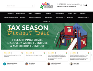 kidsfurniturewarehouse.com screenshot
