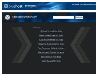 kidshealthfunletter.com screenshot