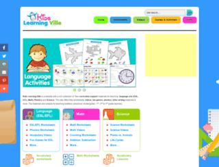 kidslearningville.com screenshot