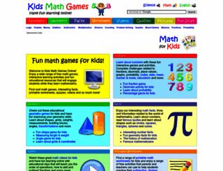kidsmathgamesonline.com screenshot