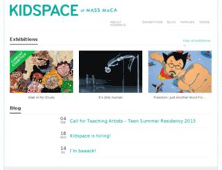 kidspace.massmoca.org screenshot