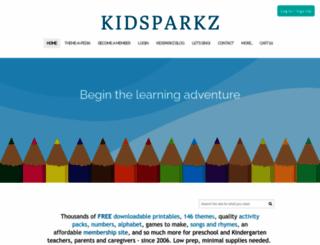 kidsparkz.com screenshot