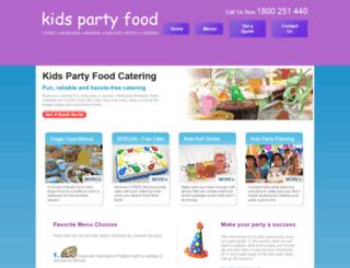 kidspartyfood.com.au screenshot