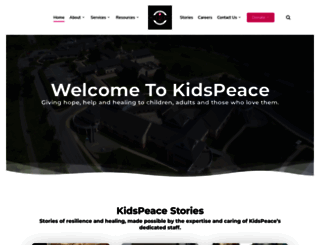 kidspeace.org screenshot