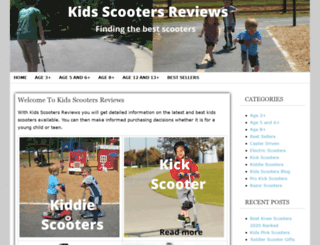 kidsscootersreviews.com screenshot